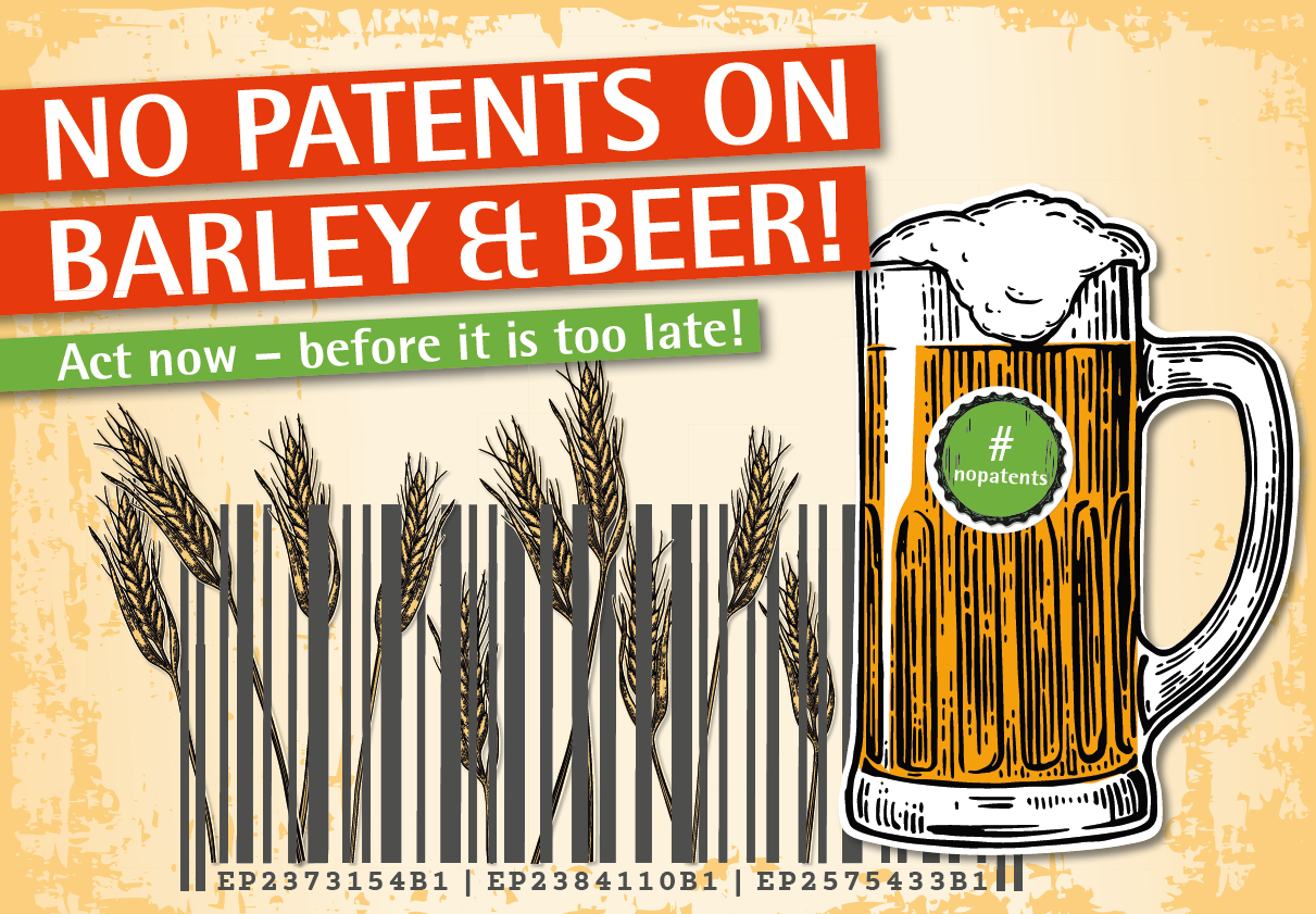 Visual No patents on barley and beer