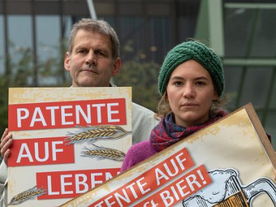 "Action by ""No Patents on Seeds"" on October 8th, 2018, in front of EPO, Munich"