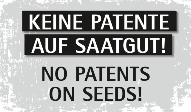Banner No patents on seeds